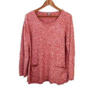 J. Jill Textured Relaxed Pullover Knit Sweater
